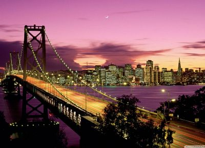 bridges, California, San Francisco - random desktop wallpaper