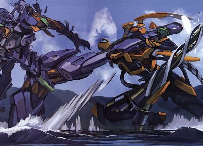 mecha, Neon Genesis Evangelion, EVA Unit 01 - desktop wallpaper