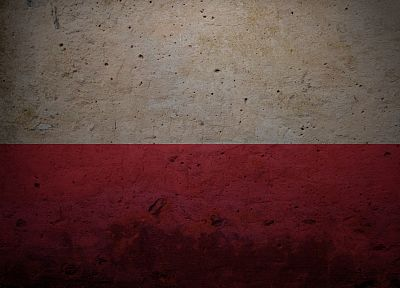 red, white, flags, Polish, Poland - duplicate desktop wallpaper