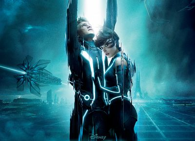 Olivia Wilde, Tron Legacy, Quorra, movie posters - related desktop wallpaper