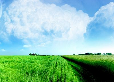 clouds, nature, fields - random desktop wallpaper