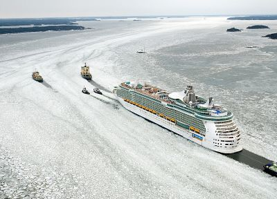 ice, ships, vehicles, cruise ship - random desktop wallpaper