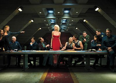 TV, Grace Park, Battlestar Galactica, Tricia Helfer, The Last Supper, Edward James Olmos, Admiral William Adama, Katee Sackhoff, James Callis, Aaron Douglas, Michael Hogan, Mary McDonnell, Jamie Bamber, Saul Tigh, Lee Adama, Galen Tyrol, Tahmoh Penikett,  - random desktop wallpaper