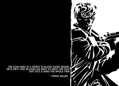 soldiers, guns, Noir, monochrome, Frank Miller - random desktop wallpaper