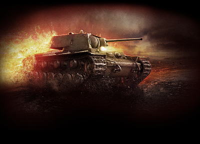 tanks, battles, World of Tanks, KV-1 - desktop wallpaper