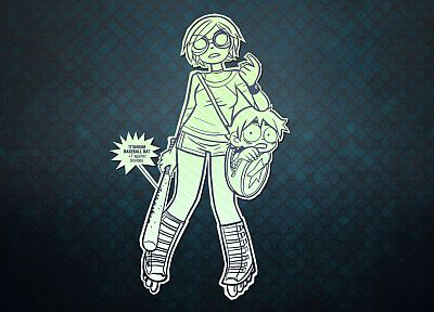 Scott Pilgrim, Ramona Flowers, Scott Pilgrim vs. the World - random desktop wallpaper