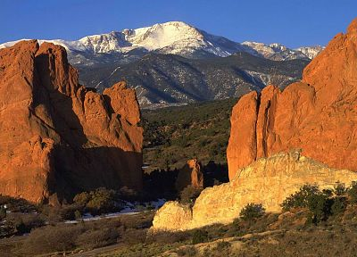 nature, peak, Colorado, pikes, garden of the gods - random desktop wallpaper
