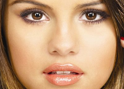 brunettes, women, Selena Gomez, actress, celebrity, singers, faces - random desktop wallpaper