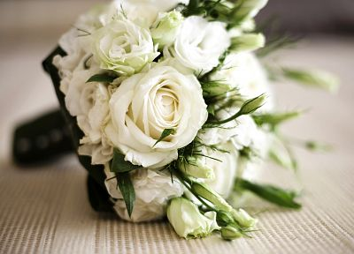 flowers, bouquet, white roses - related desktop wallpaper
