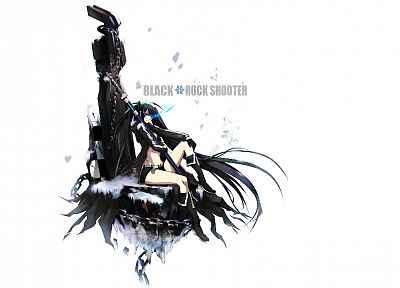 Black Rock Shooter, simple background, anime girls - desktop wallpaper