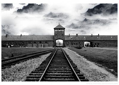 Nazi, historic, Auschwitz, death camp - desktop wallpaper