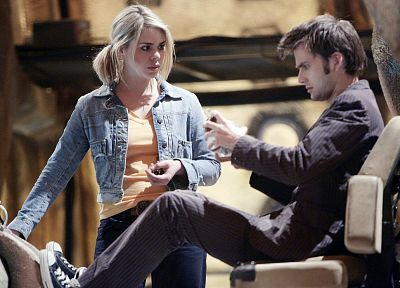 Rose Tyler, David Tennant, Billie Piper, Doctor Who, Tenth Doctor - related desktop wallpaper