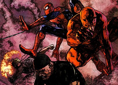 comics, Spider-Man, Iron Fist, Daredevil, Marvel Comics, Luke Cage - random desktop wallpaper