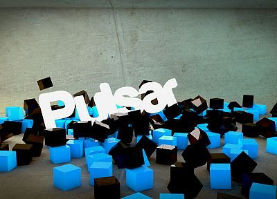 abstract, black, minimalistic, Arch Linux, cubes, pulsar, 3D renders, Lights (singer) - related desktop wallpaper