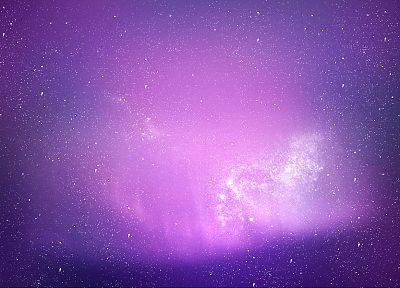 outer space, stars, purple - desktop wallpaper