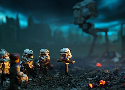 Star Wars, stormtroopers, fire, fields, Legos, grief, trooper - desktop wallpaper