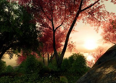 landscapes, nature, trees, forests, digital art, 3D renders - random desktop wallpaper