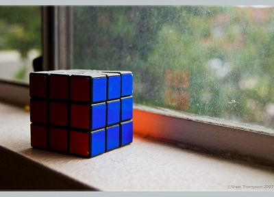 window panes, Rubiks Cube - random desktop wallpaper