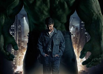 Hulk (comic character), Edward Norton, Marvel Comics, movie posters, The Incredible Hulk (Movie) - related desktop wallpaper