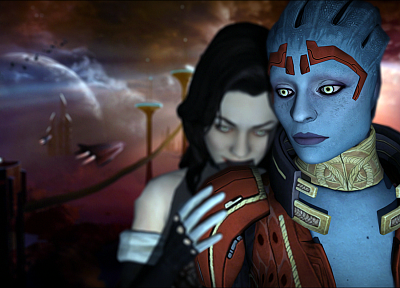 video games, Mass Effect, Miranda Lawson, BioWare, Mass Effect 2 - random desktop wallpaper
