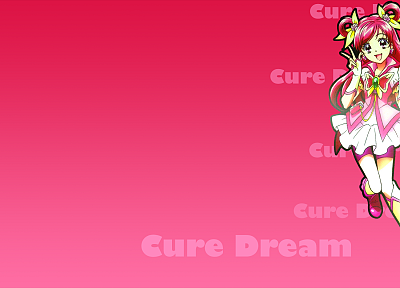 Pretty Cure, simple background, Cure Dream - desktop wallpaper