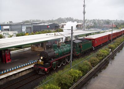 steam, trains, railroad tracks, Steam train, vehicles, Queensland Rail, BB18 1/4 - random desktop wallpaper