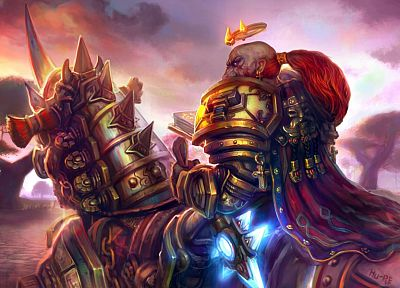 video games, World of Warcraft, fantasy art, dwarfs, paladin, warriors - desktop wallpaper