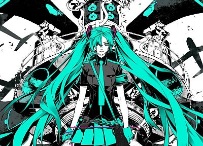 Vocaloid, Hatsune Miku, tie, skirts, long hair, Love is War, anime girls - random desktop wallpaper