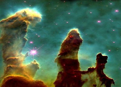 outer space, Pillars Of Creation, Eagle nebula - desktop wallpaper