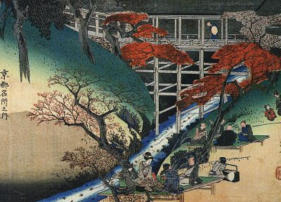 Japanese, artwork, Ukiyo-e, Hiroshige - desktop wallpaper