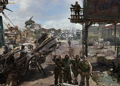 Fallout, concept art - related desktop wallpaper