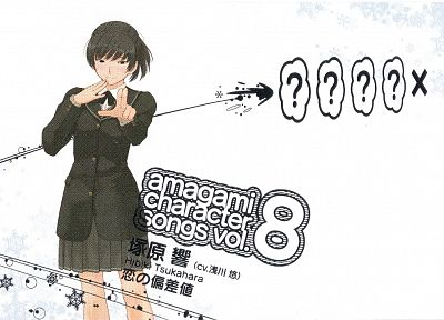 school uniforms, Amagami SS, simple background, Tsukahara Hibiki - random desktop wallpaper