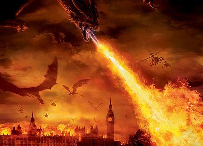 dragons, helicopters, fire, London, vehicles - related desktop wallpaper