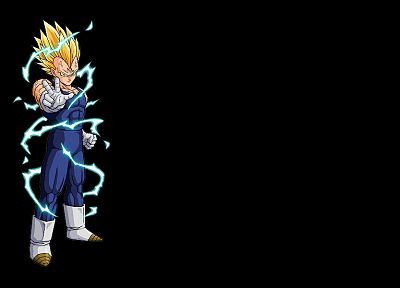 Vegeta, majin, Dragon Ball Z, black background - desktop wallpaper