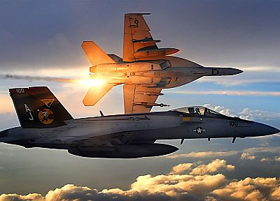 aircraft, vehicles, F-18 Hornet - desktop wallpaper
