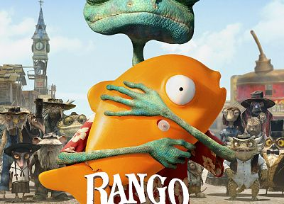 Johnny Depp, Rango, movie posters - random desktop wallpaper
