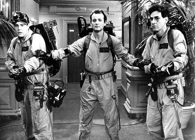 screenshots, Ghostbusters, grayscale, monochrome - random desktop wallpaper
