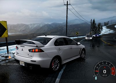 video games, cars, Mitsubishi, Need for Speed Hot Pursuit, Lancer Evo X, JDM Japanese domestic market, pc games - random desktop wallpaper