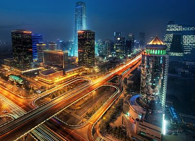 cityscapes, night, long exposure, HDR photography, Tianjin - related desktop wallpaper