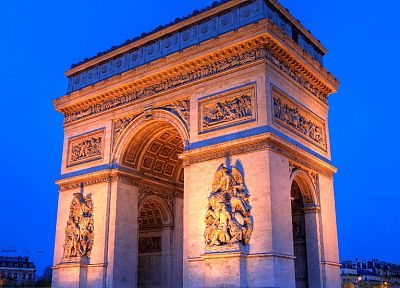 Paris, architecture, buildings, Arc De Triomphe - random desktop wallpaper