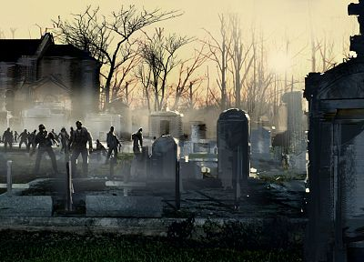 zombies, graveyards - related desktop wallpaper