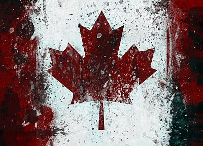 grunge, Canada, flags, Canadian flag - related desktop wallpaper