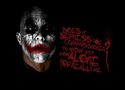 Batman, The Joker, typography, Heath Ledger, The Dark Knight, black background - related desktop wallpaper