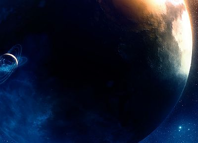 outer space, stars, planets, Greg Martin - related desktop wallpaper