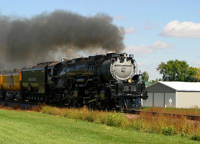 trains, locomotives, steam locomotives, Challenger, 4-6-6-4, Mallet locomotives - random desktop wallpaper