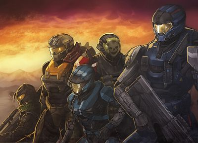 video games, futuristic, Halo, weapons, armor, Halo Reach, artwork, Reach - related desktop wallpaper