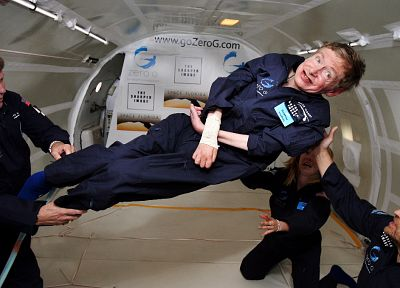 Stephen Hawking, Reduced gravity aircraft - random desktop wallpaper