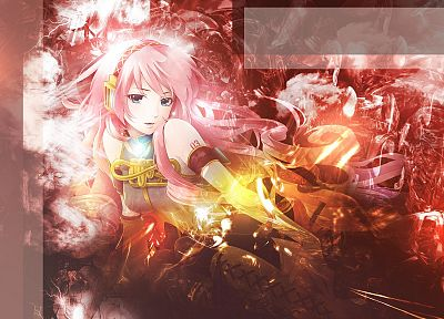 Vocaloid, blue eyes, Megurine Luka, pink hair, anime girls - desktop wallpaper