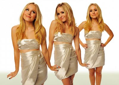 women, Kristen Bell, actress, celebrity - duplicate desktop wallpaper