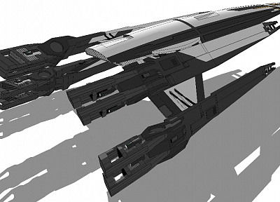 Normandy, spaceships, Mass Effect 2, artwork, vehicles - related desktop wallpaper